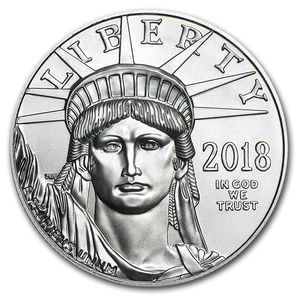 2018 1 oz Platinum American Eagle Coin BU