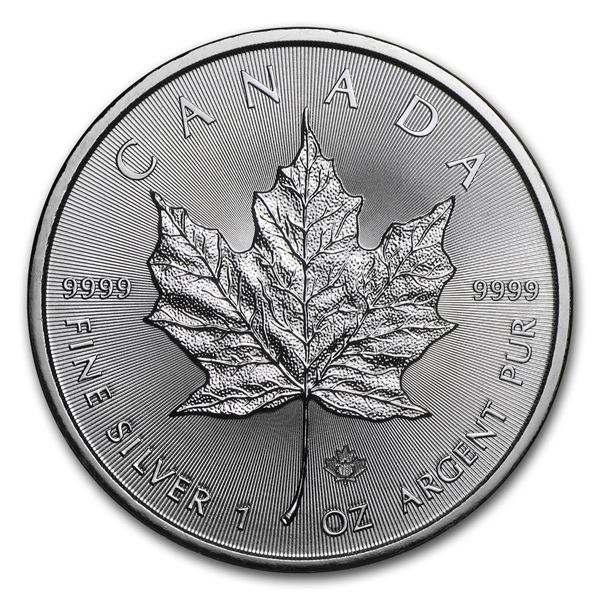 2018 1 oz Canadian 9999 Silver Maple Leaf Coin BU