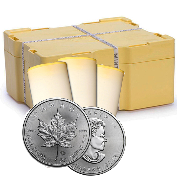 2018 1 oz Canadian Silver Maple Leaf 500 Coin Sealed Box