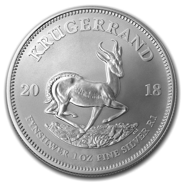 5-2018 South Africa Silver Krugerrand Coins BU .999 Fine Silver 1 oz