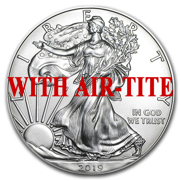 2019 1 oz American Silver Eagle Coin BU - AIR-TITE Ships Jan 18