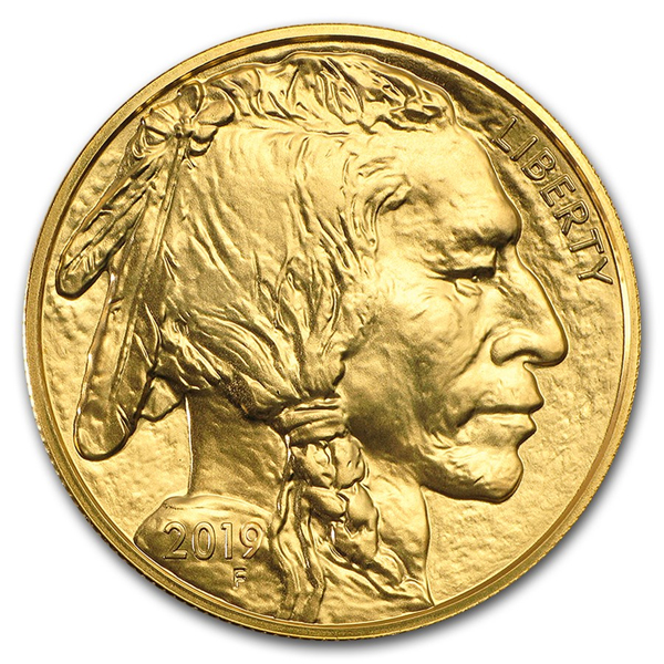 2019 1 oz Ounce American Gold Buffalo Coin BU