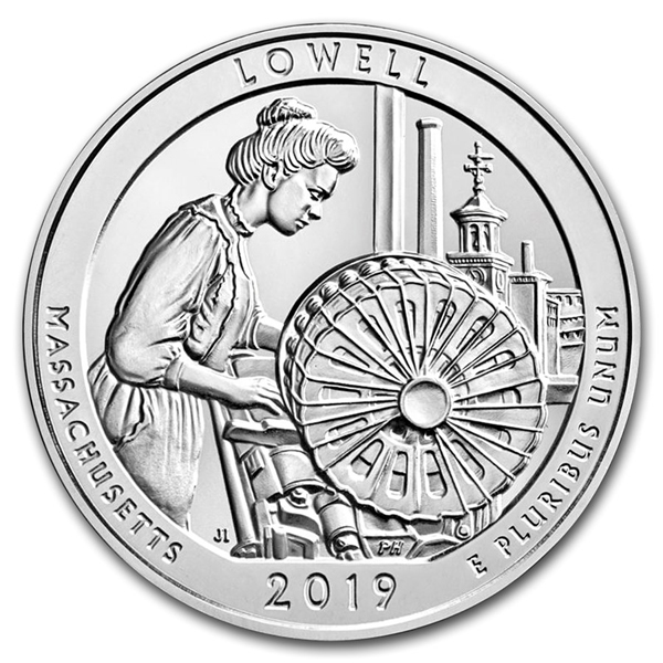 2019 5 oz Silver ATB Lowell National Historical Park MA