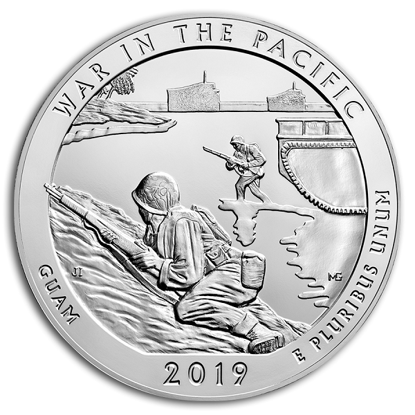 2019 5 oz Silver ATB War in the Pacific Nat Hist. Park GUAM