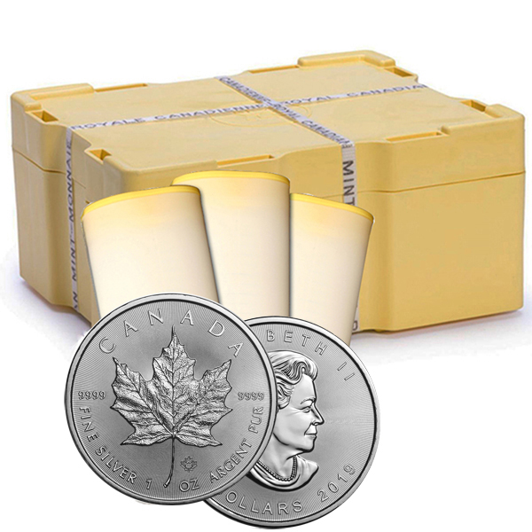 2019 1 oz Canadian Silver Maple Leaf 500 Coin Sealed Box