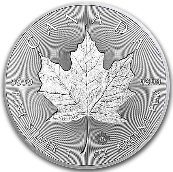 2019 1 oz Canadian Silver INCUSE Maple Leaf Coin 9999 Silver