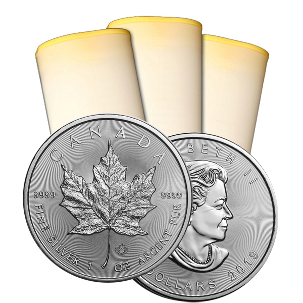 2019 1 oz Canadian Silver Maple Leaf Roll Of 25 Coins