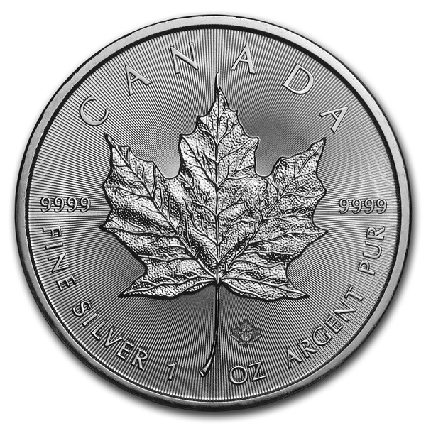 2019 1 oz Canadian 9999 Silver Maple Leaf Coin BU