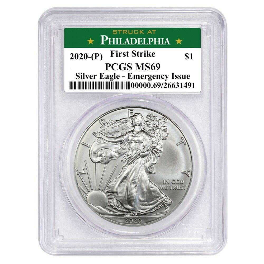 2020 (P) Struck At Philadelphia Silver Eagle PCGS MS69 FS