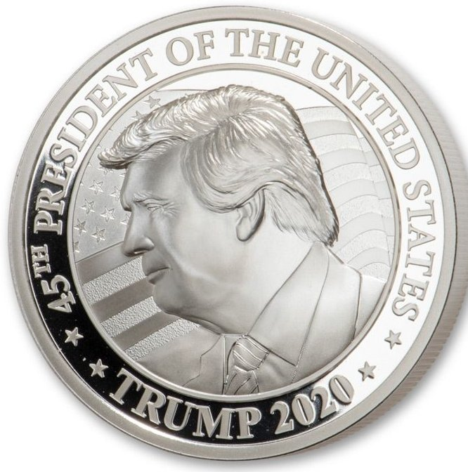 2020 Somalia 2-oz Silver Donald Trump UHR Proof Coin