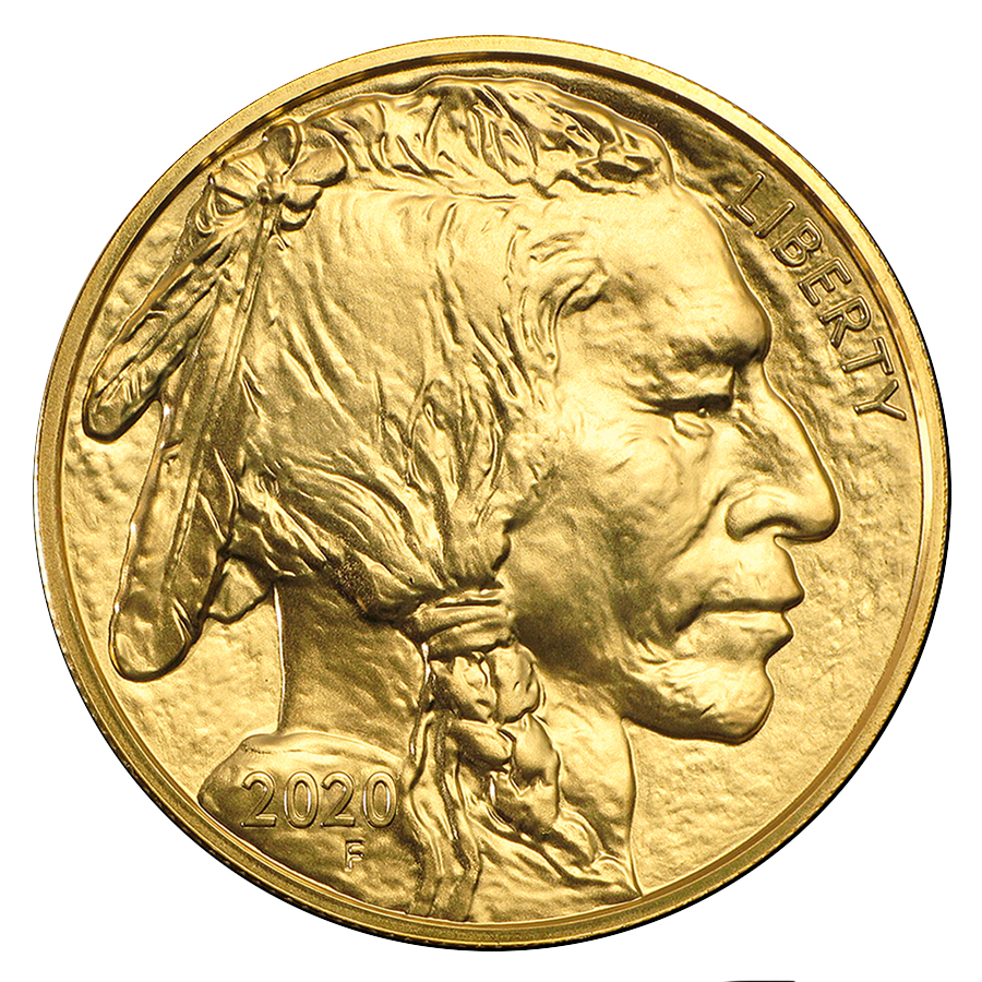 2020 1 oz Ounce American Gold Buffalo Coin BU