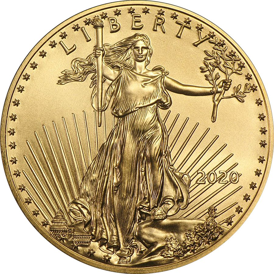 2020 1/2 Oz Ounce American Gold Eagle Coin BU