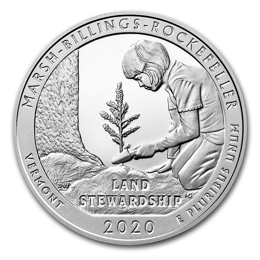 2020 5 oz Silver ATB Marsh-Billings-Rockefeller National Park