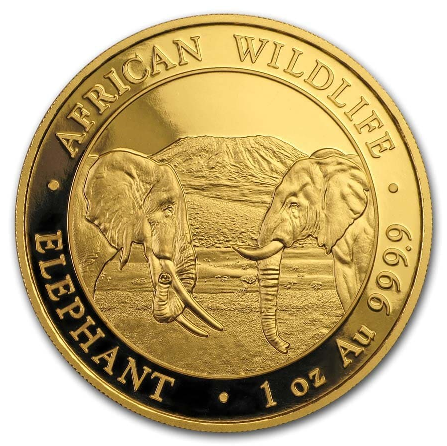 2020 Somalia 1 oz Gold Elephant Coin BU