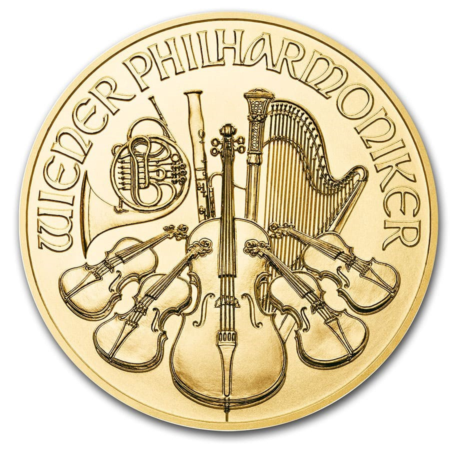 2020 1/25 oz Austrian Philharmonic Gold Coin
