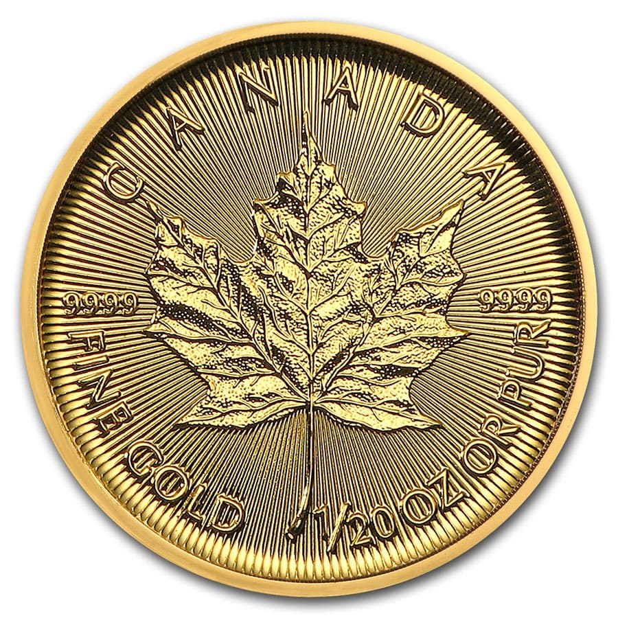 2020 1/20th oz Canadian Gold Maple Leaf Coin
