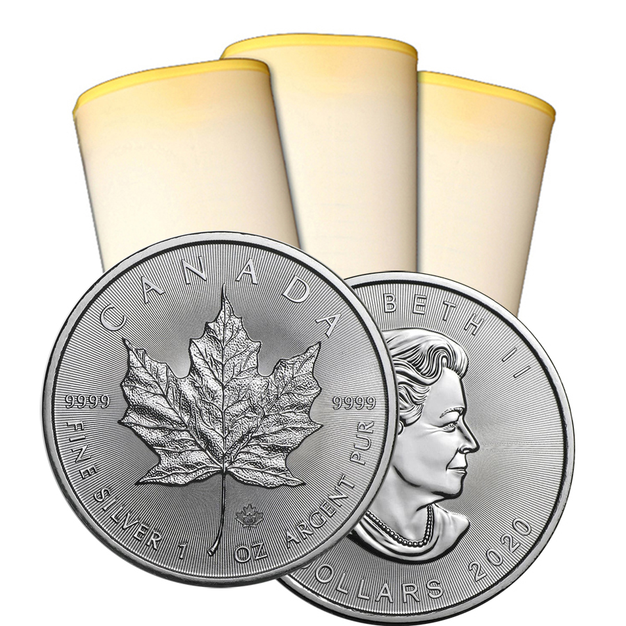 2020 1 oz Canadian Silver Maple Leaf Roll Of 25 Coins