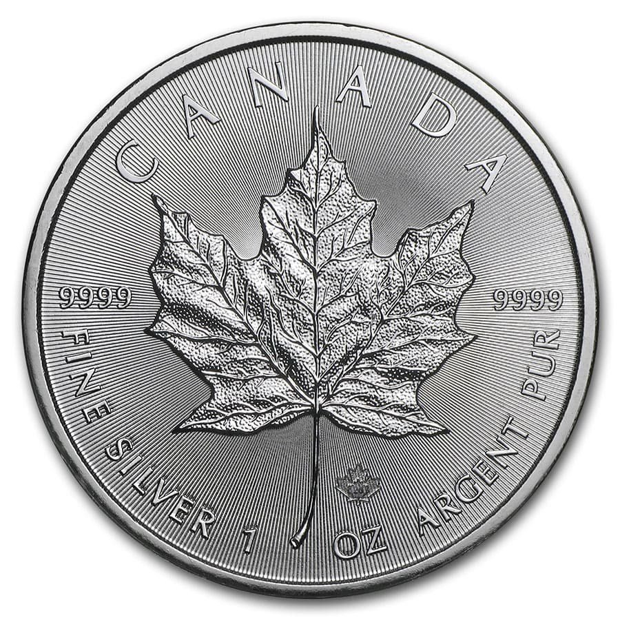 2020 1 oz Canadian 9999 Silver Maple Leaf Coin BU