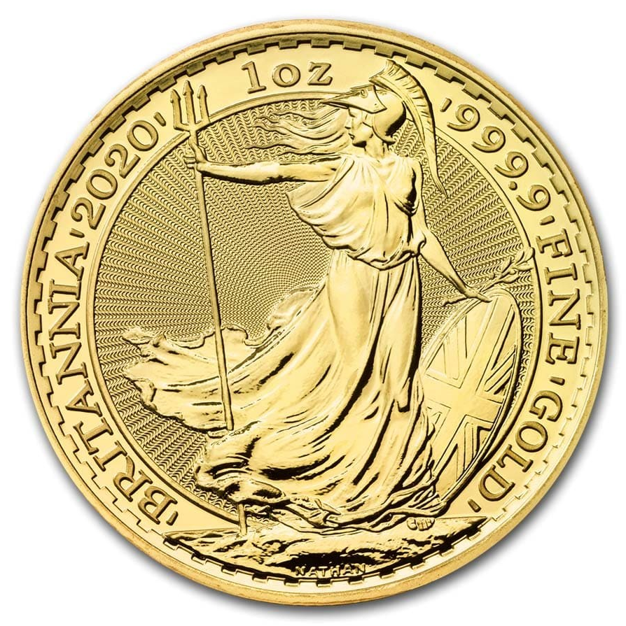 2020 Great Britain 1 oz Gold Britannia Coin BU