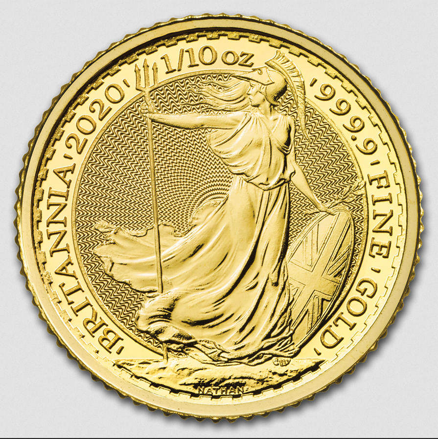 2020 Great Britain 1/10 oz Gold Britannia Coin BU