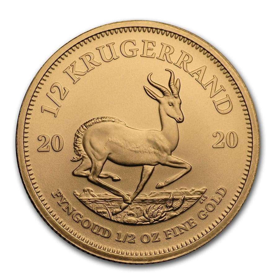 2020 South African Krugerrand 1/2 oz Gold Coin