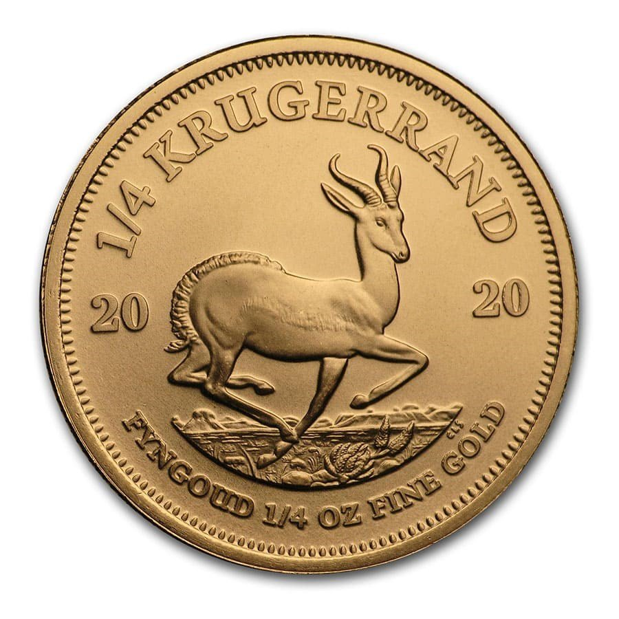 2020 South African Krugerrand 1/4 oz Gold Coin