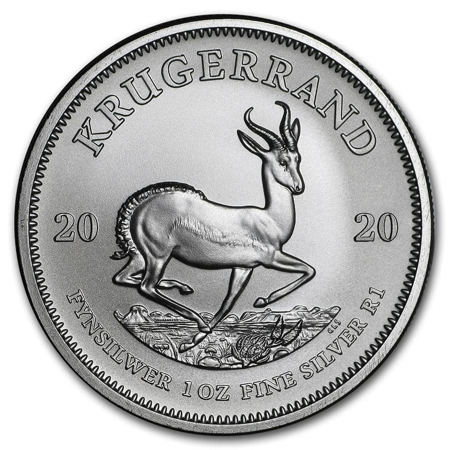 In Capsule 2017 South Africa 1 oz Silver Krugerrand Premium BU