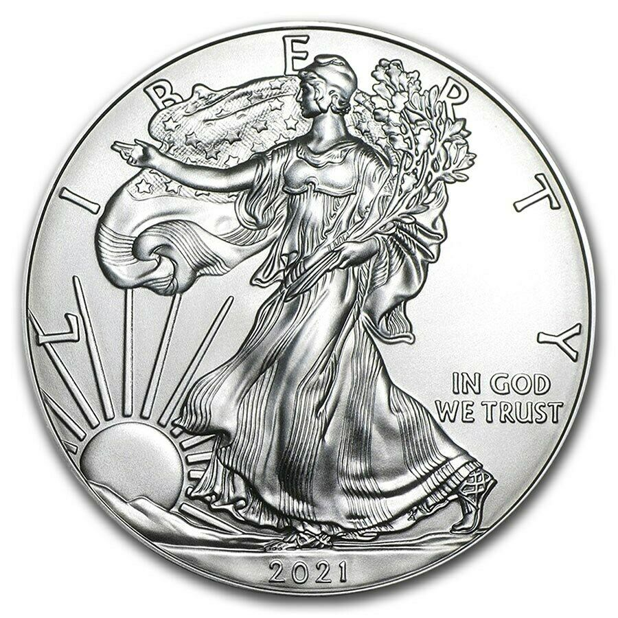 2021 1 oz American Silver Eagle Coin BU - Ships Jan 22