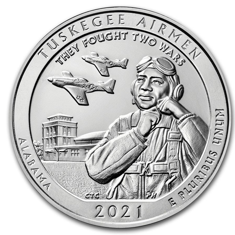 2021 5 oz Silver ATB Tuskegee Airmen National Historic Site AL