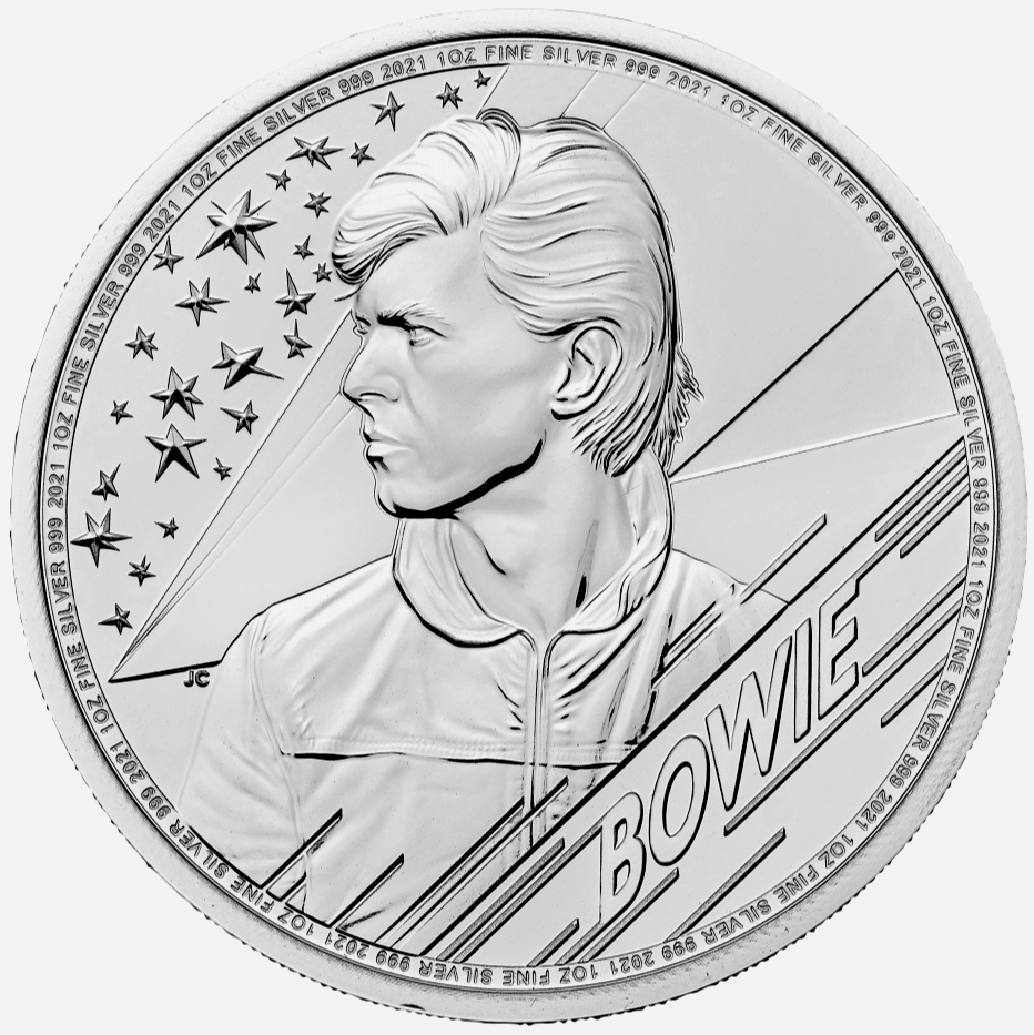 2021 Music Legends series - David Bowie 1 oz Silver Coin BU