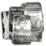 5 oz Silver Bullion Bar 999 Fine Silver Mixed Mint