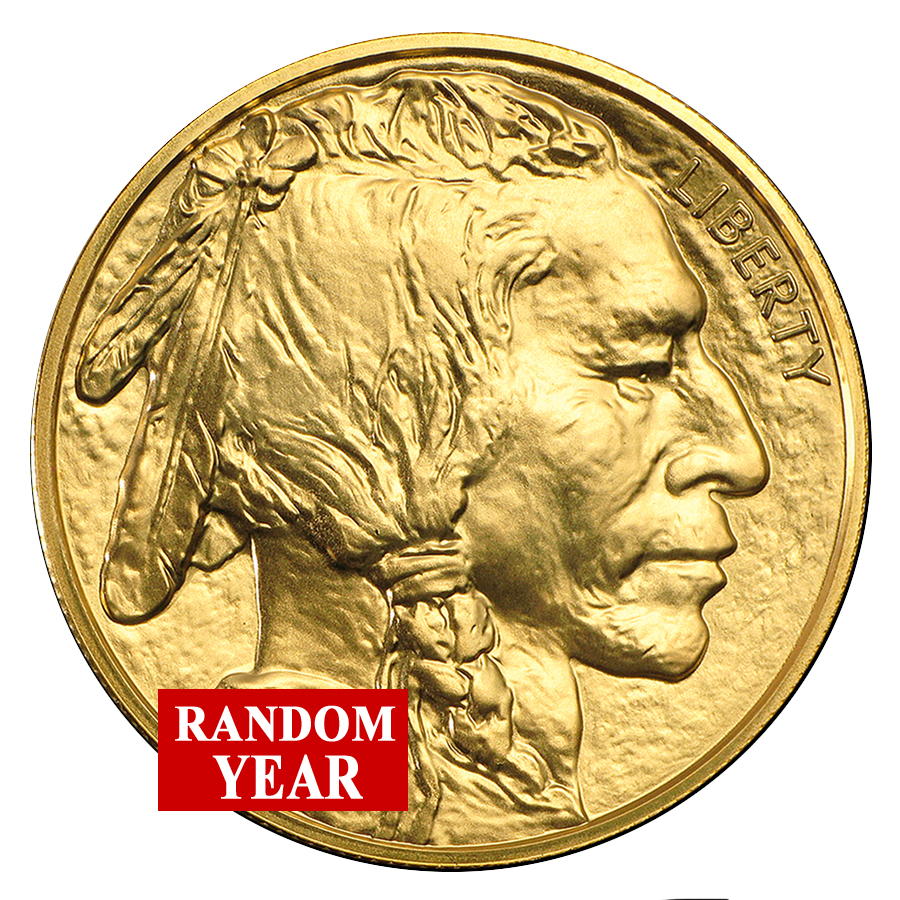 Random Year - 1 oz Ounce American Gold Buffalo Coin BU
