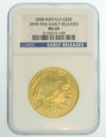 2008 1 oz Gold American Buffalo NGC MS69 Early Release