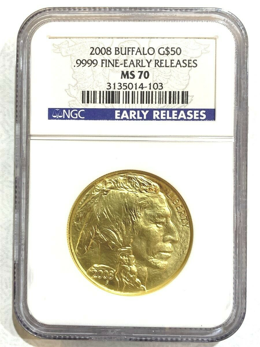 2008 1 oz Gold American Buffalo NGC MS70 Early Release
