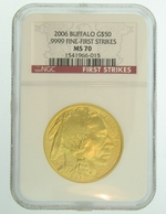 2006 1 oz Gold American Buffalo NGC MS70 First Strike