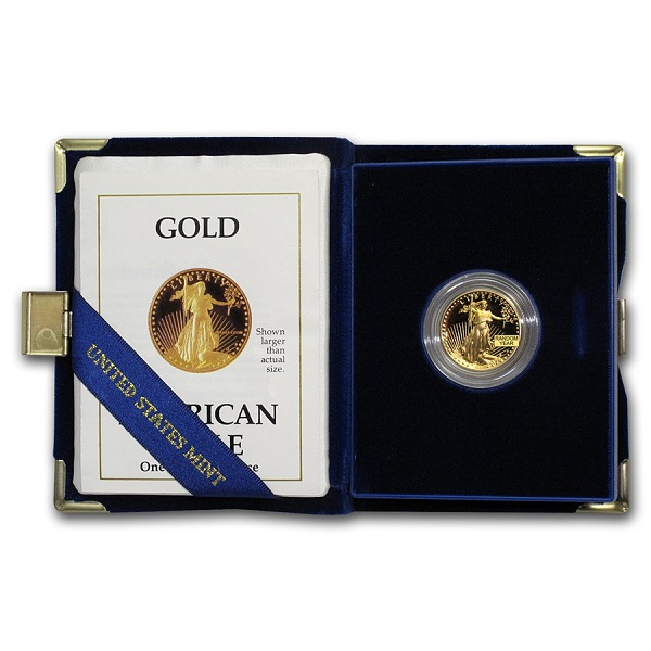 Random Year - 1/4 oz Proof Gold American Eagle With Box & COA