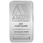 10 oz A-MARK Silver Bullion Bar 999 Fine Silver