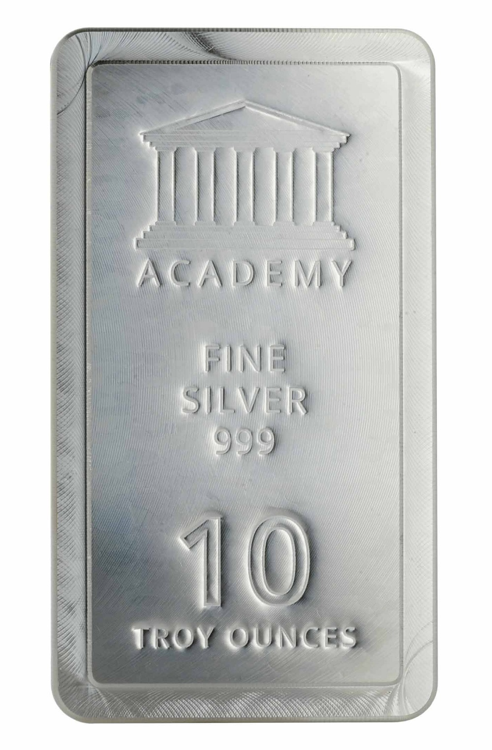 ACADEMY Stacker® 10 oz Silver Bullion Bar 999 Fine Silver