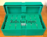 Empty Green Monster Box For Silver Eagle Coin Storage With Tubes