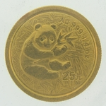 2000 1/4 Ounce Chinese Gold Panda Coin Not Sealed