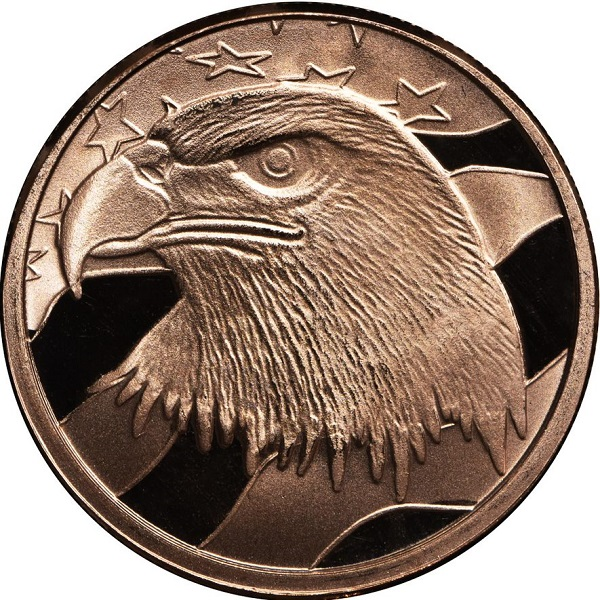 1 AVDP oz The Bald Eagle Copper Round