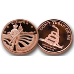 1 AVDP oz Patriot 2nd Amendment Copper Coin