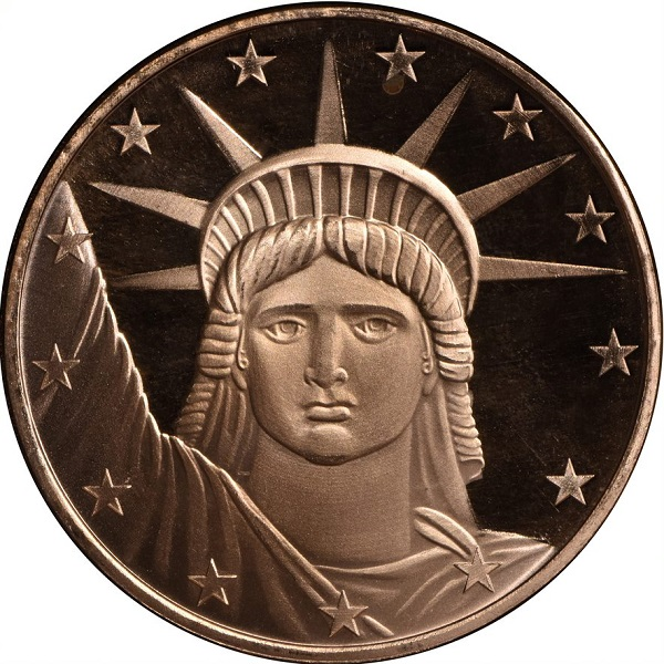 1 AVDP oz Copper Statue of Liberty Coin