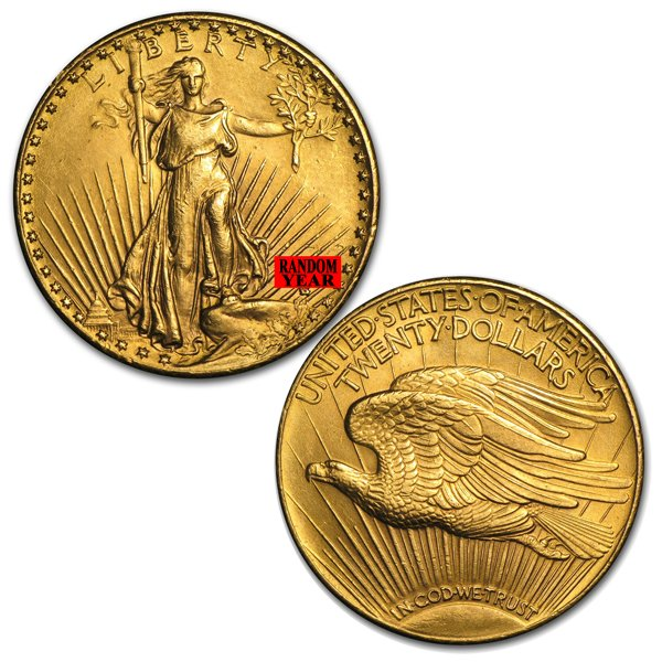 $20 St Gaudens Gold Coins 1907-1933 : Aydin Coins & Jewelry