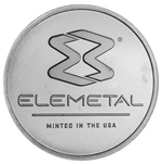 1 oz Elemetal Silver Round Coin 999 1 Troy Ounce Fine Silver