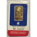1 oz Engelhard Gold Bar .9999 Fine Gold With Assay Cert EH