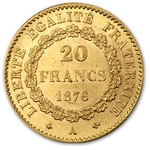 20 Francs Gold Coin Lucky Angel .1867 Ounce Average - Click Image to Close