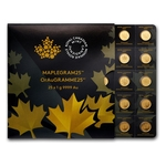25x 1 Gram Gold Maple Leafs - Maplegram25™ In Assay Sleeve