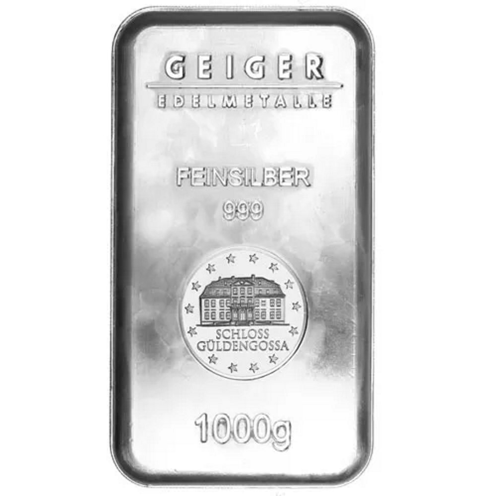 1 Kilo Geiger Security Line Silver Bar .999 Fine - Sealed - Click Image to Close