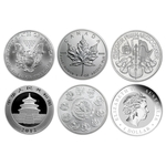 Lot of 5 - 2021 1 oz Silver Coins From Around The World BU - Click Image to Close